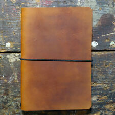 Leather Traveler's Adventure Journal Cover - Rustic Handmade Leather Notebook