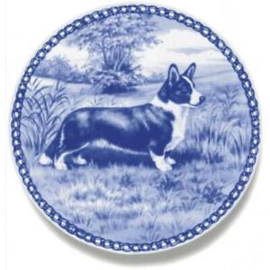 Welsh Corgi Cardigan - Dog Plate made in Denmark from the finest European Porcel