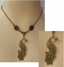 Gold Peacock Pendant Necklace Jewelry Handmade NEW Fashion Accessories Chain