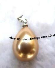 12x20mm coffee pearl shell teardrop pendant 1Pcs