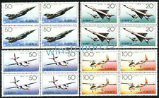 China 1996-9 Chinese Aircraft Airplane 4v x Block 4 Stamps Mint NH