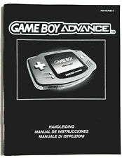 Notice Console Nintendo Game Boy Advance GBA PAL EUR Gameboy