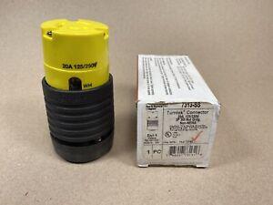 Pass & Seymour Turnlok Connector 7313-SS 20 amp 125/250 volt 3 wire twist lock