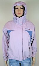 Lilac hooded walking hiking water windproof inner fleece jacket size 10 36 chest