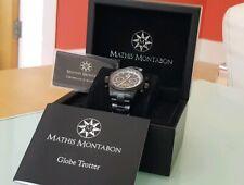 Black Mathis Montabon Globe Trotter Watch (Boxed) NRP £1370.