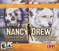 NANCY DREW 2 PACK - White Wolf of Icicle Creek & Crystal Skull - 2 PC Games NEW!