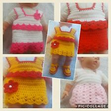 CROCHET PATTERN :MARIA'S BABY/DOLLS SUIT.TOP AND SKIRT  TJC45