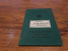1956 Germany passport passeport reisepass issued in Braunschweig