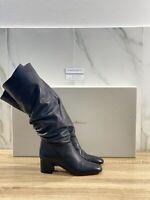 Santoni Stivale Donna In Pelle Nera Luxury Woman Boot Santoni 37