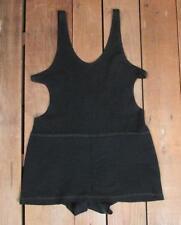 Vintage 1920s nero maglia di lana Costume Antico da bagno Vittoriano BEACH NICE