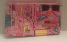 Pink Clinique makeup accessory pencil brush bag case