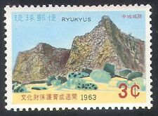 Ryukyus 1963 Building Protection/Park/Castle Ruins/Heritage 1v (n26592)