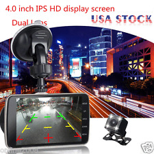 4'' HD 1080P Dual Lens Vehicle Car Dash Cam Video Recorder Camera DVR G-Sensor