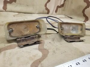 (2) 1964 1965 1966 Pontiac GTO Lemans Turn Signal Parking Light Assembly OEM