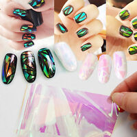 Nail Art Transfer Foils Sticker Decal Shiny Laser Holographic Paper Manicure