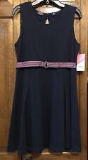 Izod Girls School Uniform Navy Blue Sleeveless Dress Size 14 Regular NWT