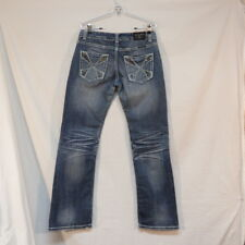 Rock & Roll Cowgirl Low Rise Jeans Heavy Stitching  WO-4481 Size 29X32 see desct