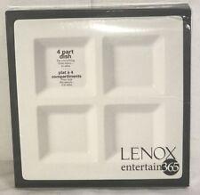 Lenox Entertain 365 Smooth 4-Part Dish, White