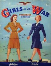 VINTAGE UNCUT 1943 GIRLS IN THE WAR PAPER DOLLS~#1 REPRODUCTION~NOSTALGIC & RARE