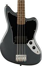 More details for squier affinity series jaguar bass h, laurel fingerboard, charcoal frost metalli