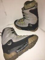 Burton Moto SI Gray Suede Step-In Snowboard Boots US Men's 8 UK 7