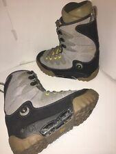 Burton Moto SI Gray Suede Step-In Snowboard Boots US Men's 8 UK 7