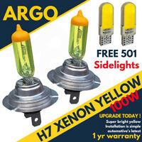 H7 Xenon Super Yellow 100w Bulbs Dipped Main Beam Headlight Headlamp 501 Cob Led
