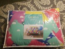 Pillowfort Brush-On Brights Abstract Microfiber Full/Queen Comforter Set - New