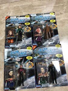 4 Playmates Star Trek Action Figures 1997 Skybox Card Crusher Soong Laren Data