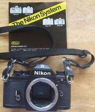Nikon Em 35mm Slr film camera body with strap - Tested