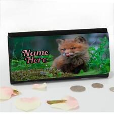 Personalizzato Molla Fox Cucciolo di grandi dimensioni donna SOLDI portamonete Mamma Regalo ST031