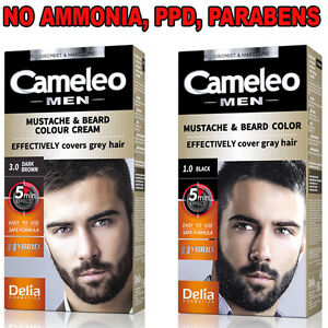 Delia Cameleo COLOUR CREAM Beard&Mustache-Grey Hair Cover Dye Cream 5Min Effect