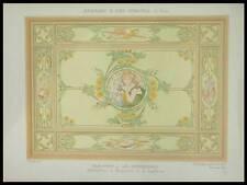 MULIER, LA GEOGRAPHIE, ART NOUVEAU -1900- LITHOGRAPHIE, MARGUERITES