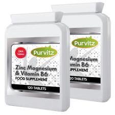 Zma Pastillas Cinc Magnesio Max Desarrollo Muscular Tamaño Vitamina B6