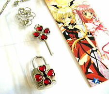 Anime Shugo Chara Forever Love Key and Lock Necklace 2 Pcs/Set Valentine Cosplay