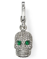 Juicy Couture Charm Pave Skull Silvertone NEW
