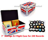 "Neo 7"" Inch LP 200 Vinyl Record Aluminium Flight DJ Storage Case UNION JACK UK"