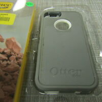 OTTERBOX DEFENDER FOR APPLE IPHONE 5/5S/SE, GRAY & WHITE, PLEASE READ!! 4693