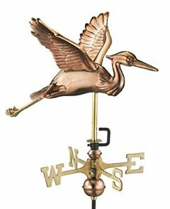 Good Directions 8805PR Blue Heron Cottage Weathervane Polished Copper with Ro...