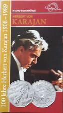 Österreich 5 Euro 2008, Herbert von Karajan, Silber-Münze im Blister, hgh