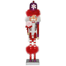 Christmas Nutcracker Figure The Candyman Collection Fun Red Feathers N14S-C