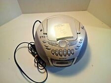 Silver Sony Cfd-E75 Cd Radio Cassette-Corder Cd-R/Rw - Doesn't Read Discs