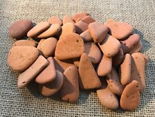 X 40 small pieces of Scottish Sea Pottery terracotta various sizes