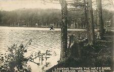 Looking Towards The West Shore, Lake Raponda, Wilmington, Vermont VT RPPC