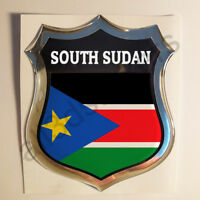 Sticker South Sudan Emblem 3D Resin Domed Gel South Sudan Flag Vinyl Decal Car