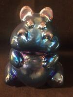 Fenton Art Glass Faverine Hippo