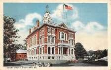 Rockland Maine Court House Street View Antique Postcard K39808
