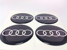AUDI Autocollant Sticker Centre de Roue Cache Moyeu Jante Silicone 4 x 55mm