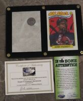 RARE Kirby Puckett Signed card with COA and Metrodome Roof Relic Combo Lot