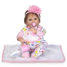 Realistic Reborn Baby Newborn Dolls 17'' Real Life Baby Alive Nursery Bebe Girls